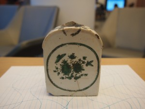 Damaged Ceramic Flask (Image Credit: Dr. Wharton)